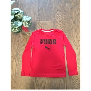 🔥PUMA LOGO boys dri-fit long sleeve shirt.🔥